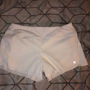 White athleta shorts